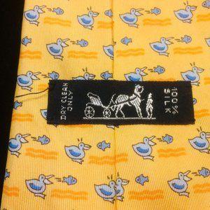 Hermès Pelicans Fish Silk Tie  - AS  IS